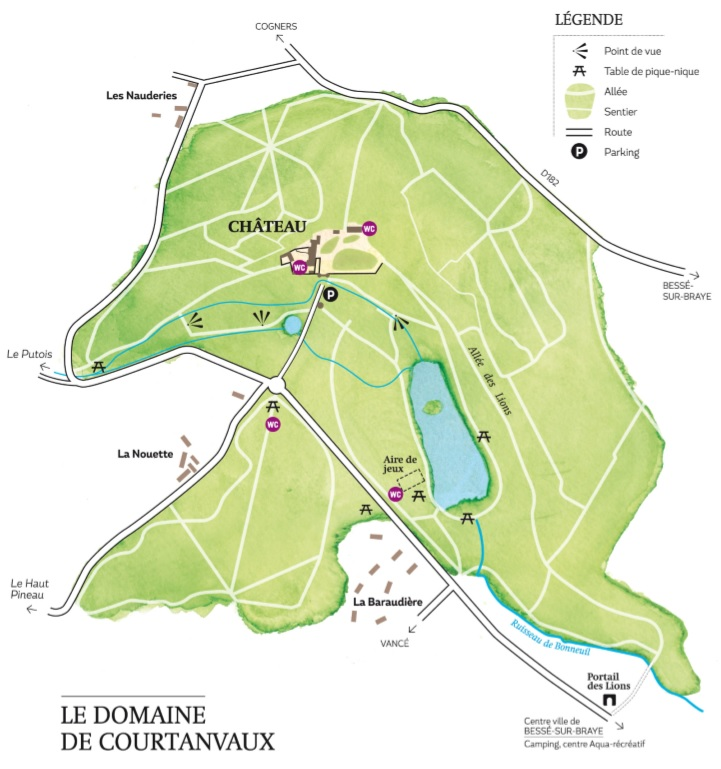 Plan du domaine de Courtanvaux